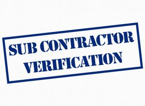 Sub Contractor Verification